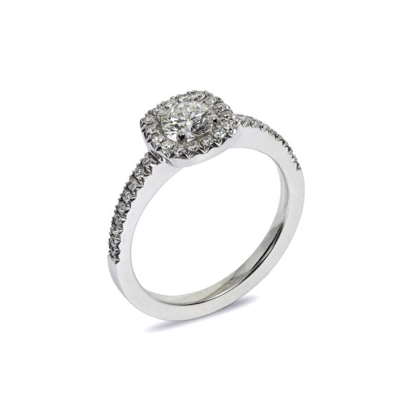 Emelie Vintage Diamond Engagement Ring