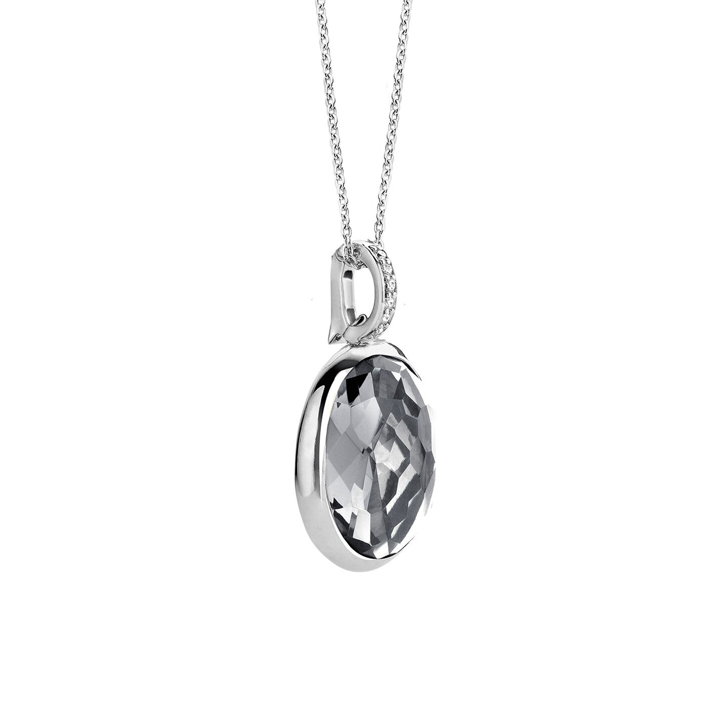 Ti Sento Oval Grey Necklace