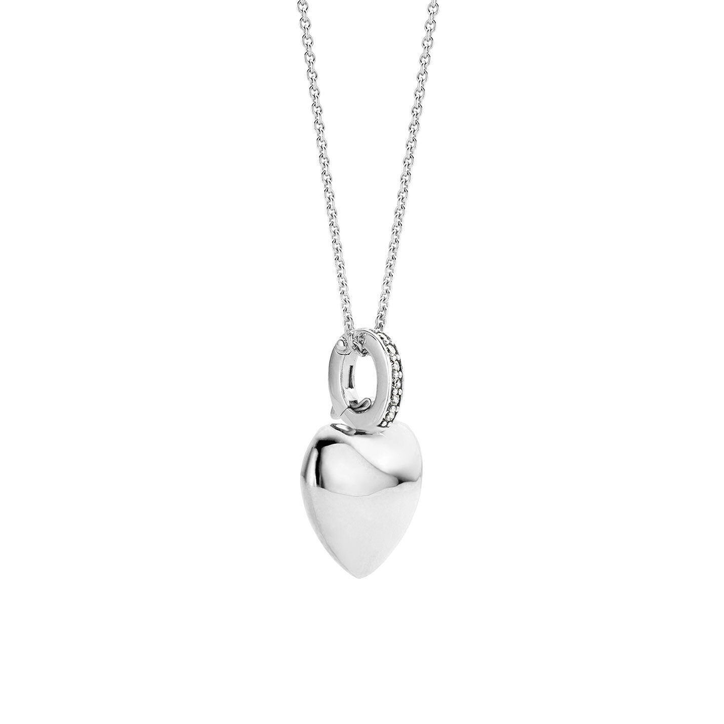 Ti Sento Polished Love Heart Necklace