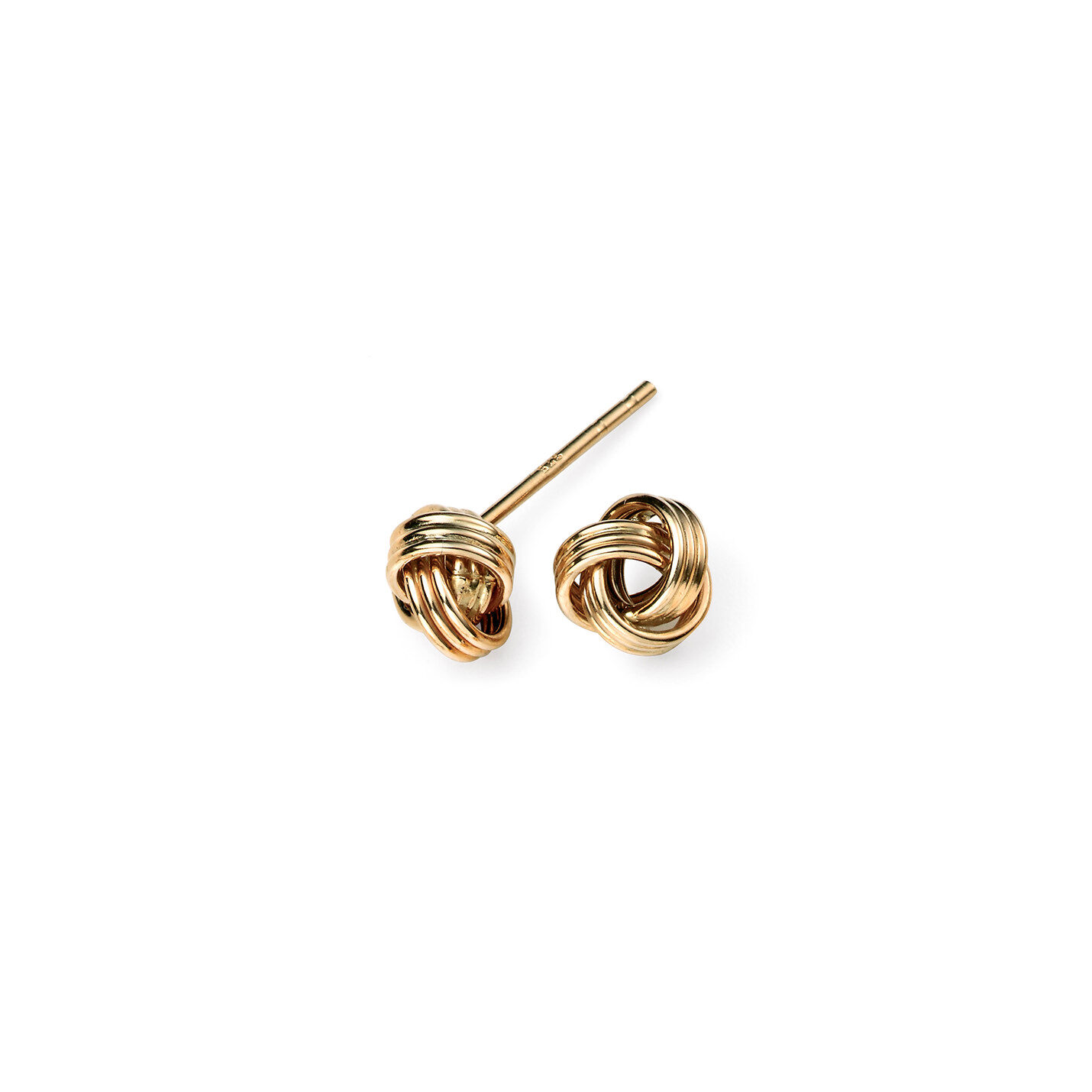 Murphy Jewellers top selling stud earring: the Gold Knot.  Classic and chic