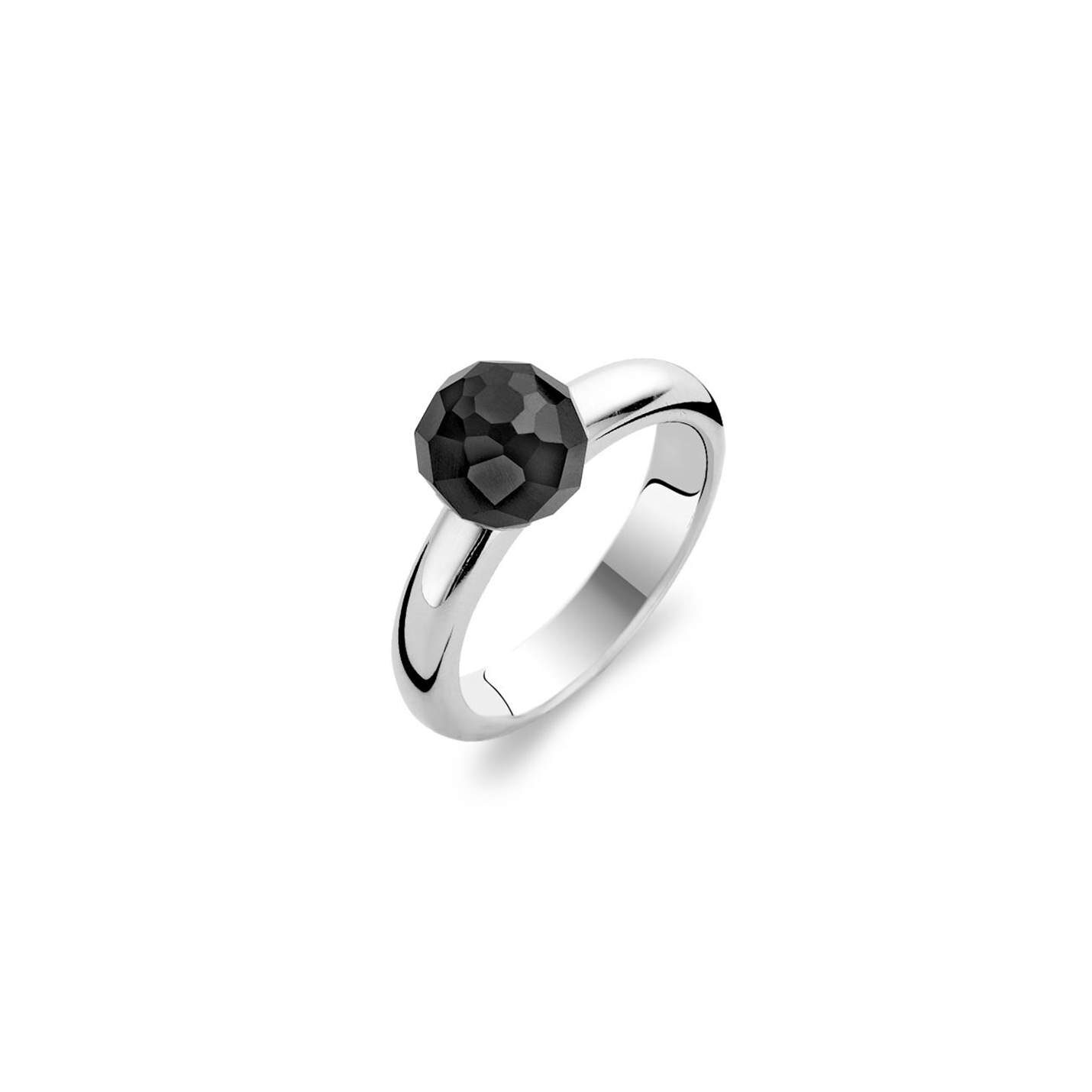 Ti Sento Black Bead Ring