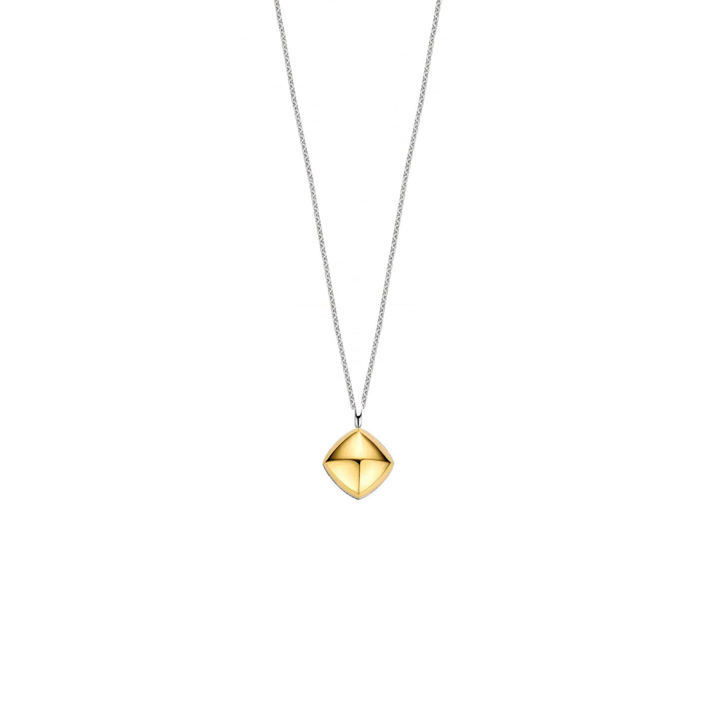 Ti Sento Gold Pyramid Necklace