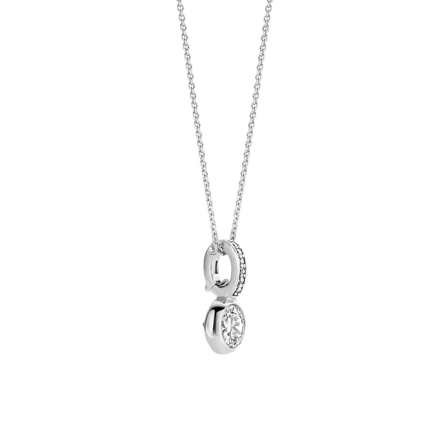 Ti Sento CZ Drop Necklace
