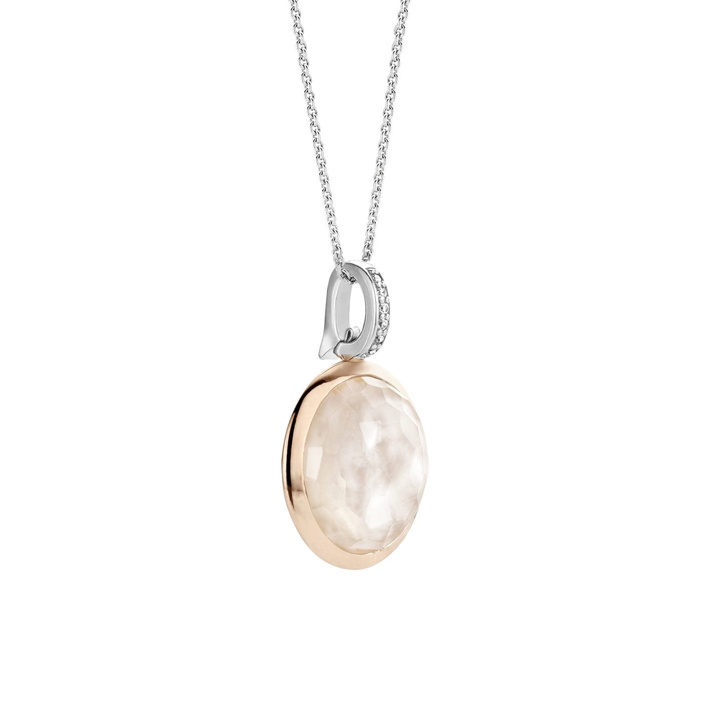 Ti Sento Mother-of-Pearl Disc Necklace