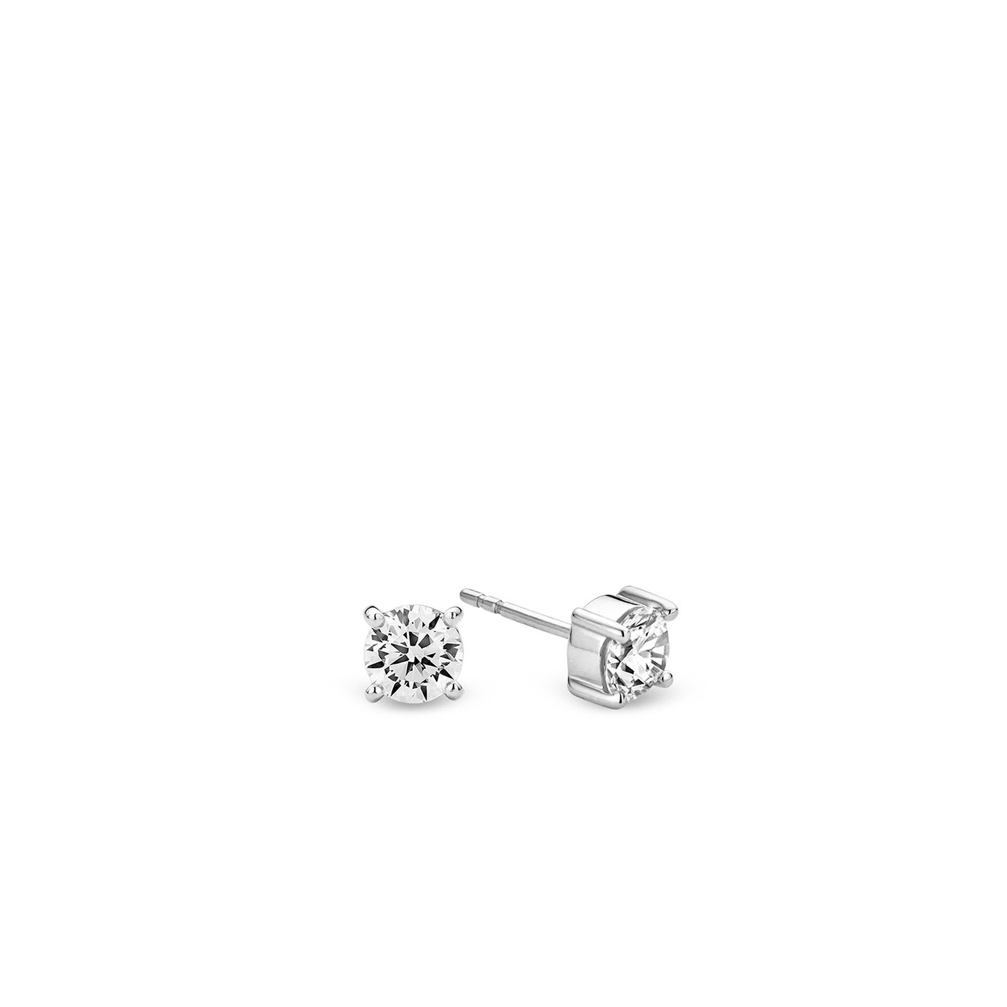 Ti Sento Silver & CZ Stud Earrings