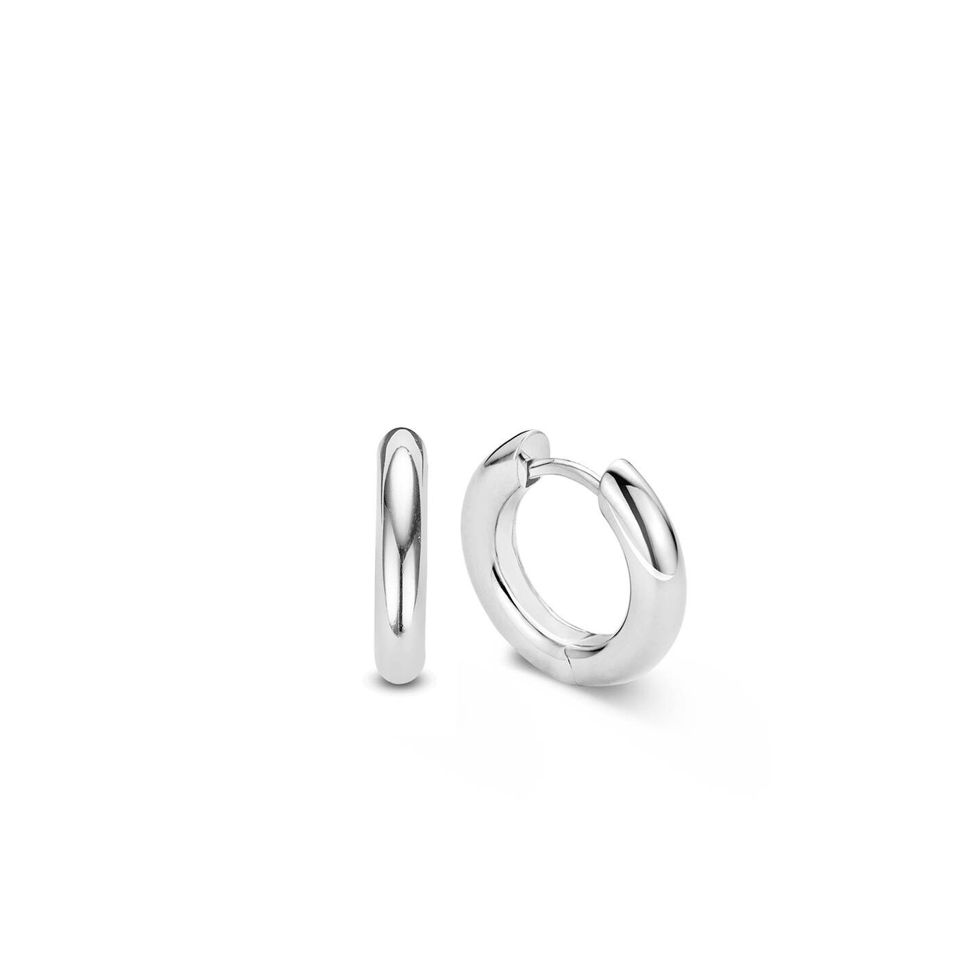 Ti Sento Silver Hoop Earrings – Medium