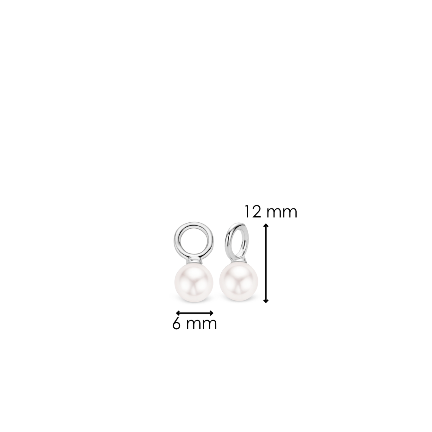 Ti Sento Small Pearl Charm Earrings