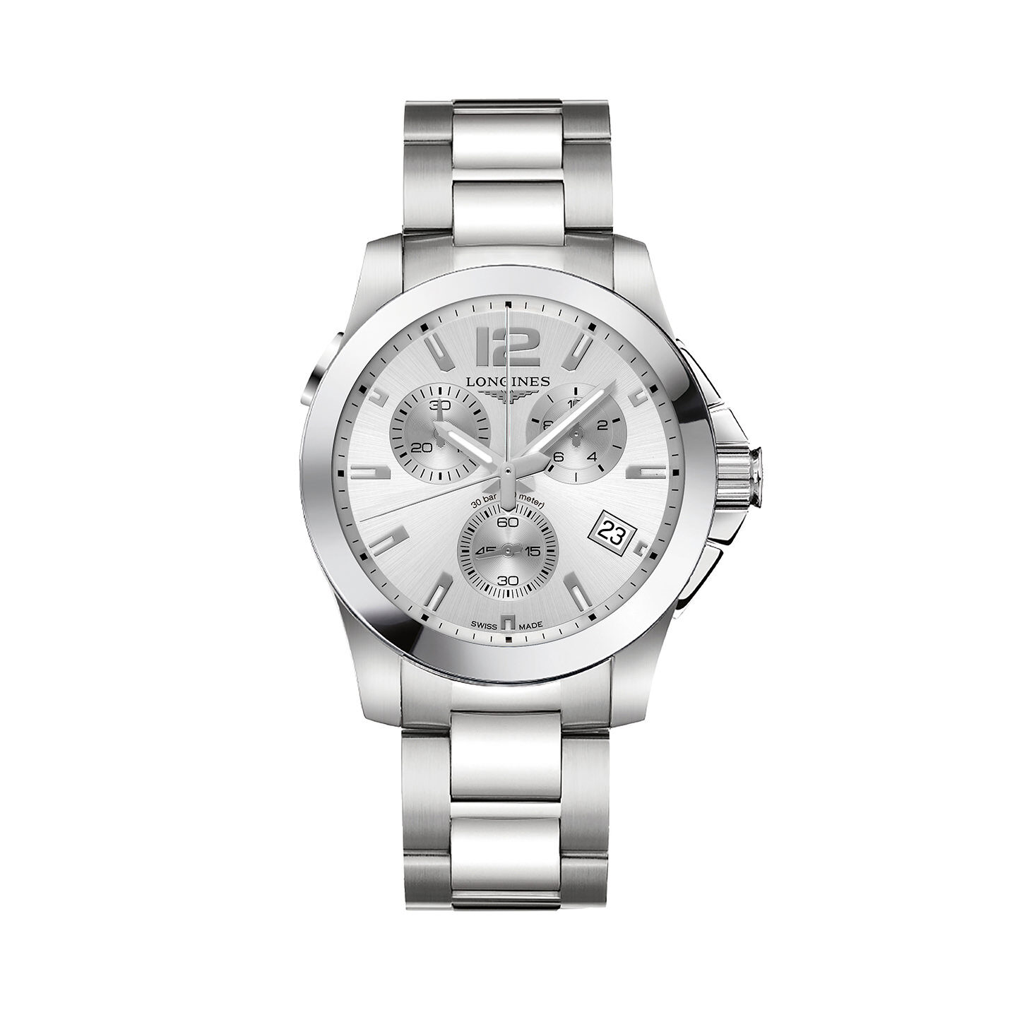 Longines Conquest Collection – Stainless Steel Chronograph