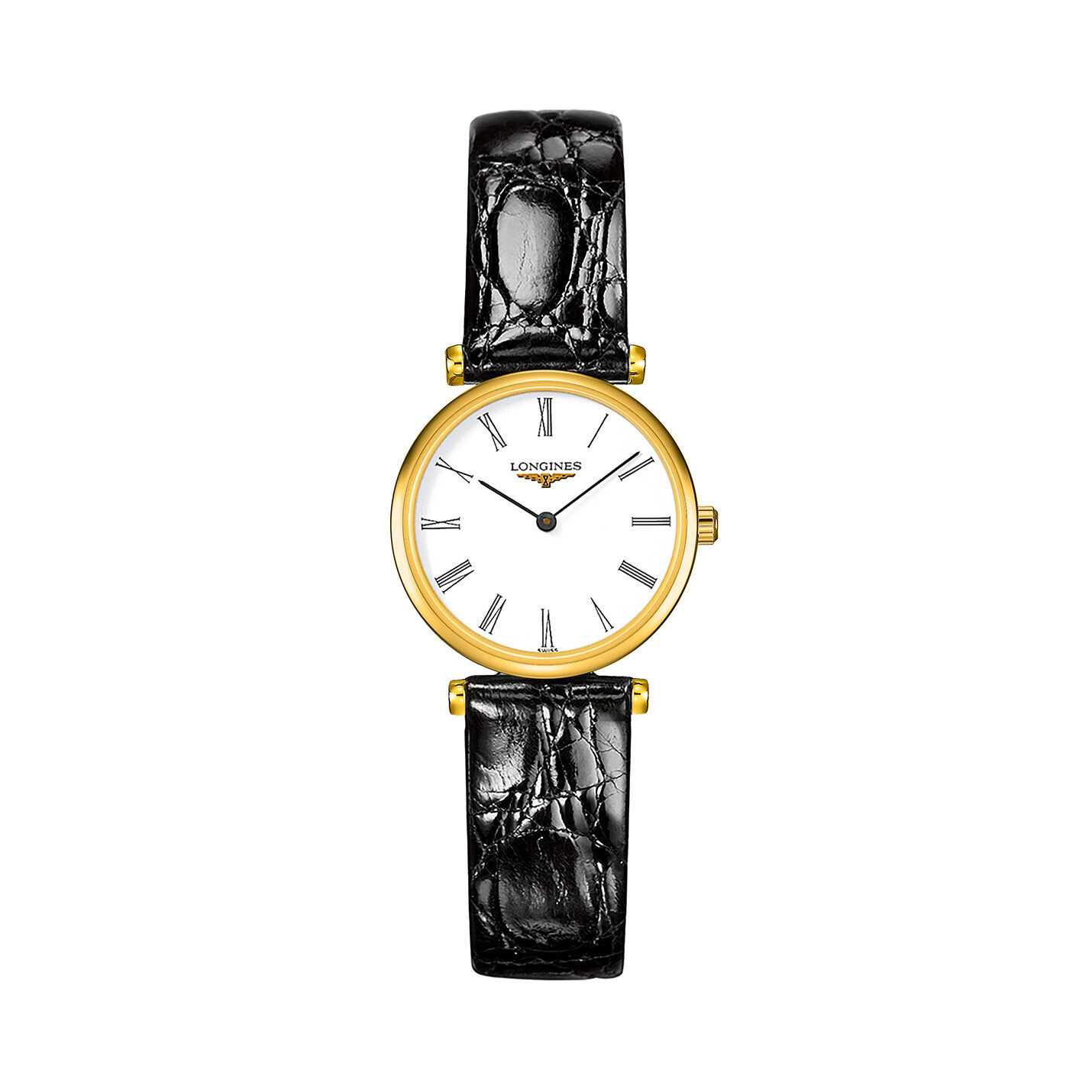 Longines La Grande Classique Collection – Yellow Gold & Leather Strap Watch