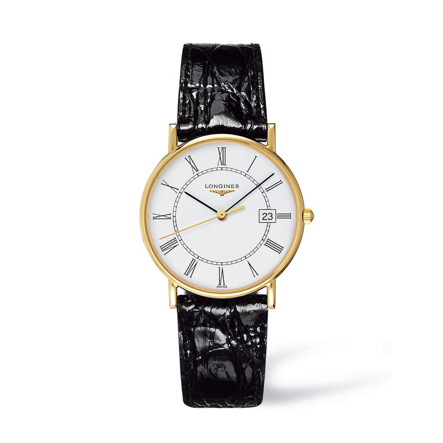 Longines Presence Collection – Gold & Black Strap Watch