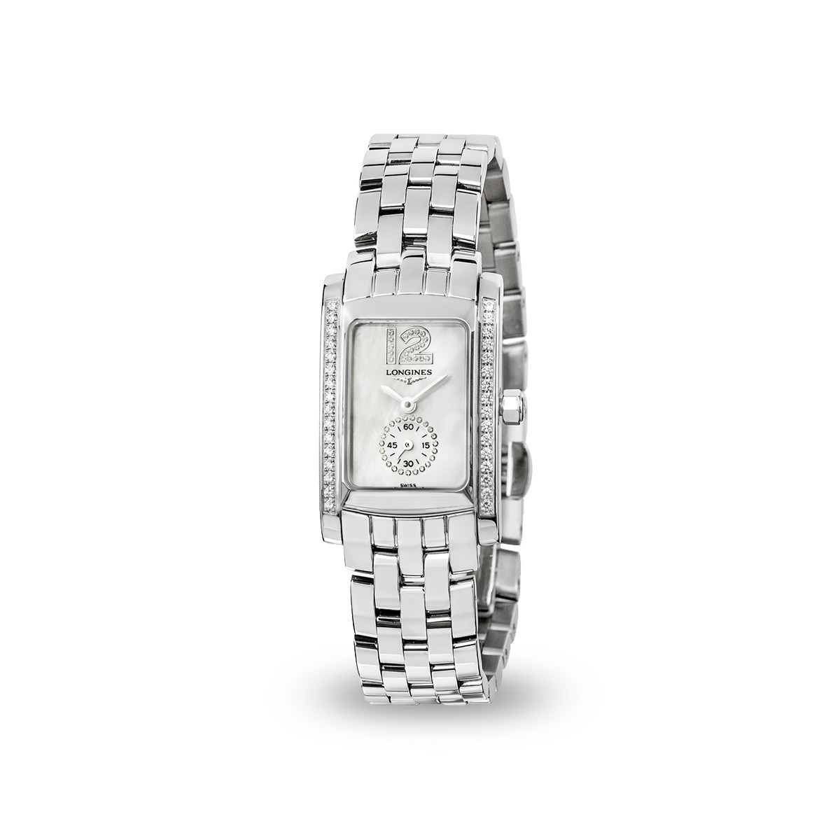 Longines Dolce Vita Collection - Rectangle Watch with Diamonds