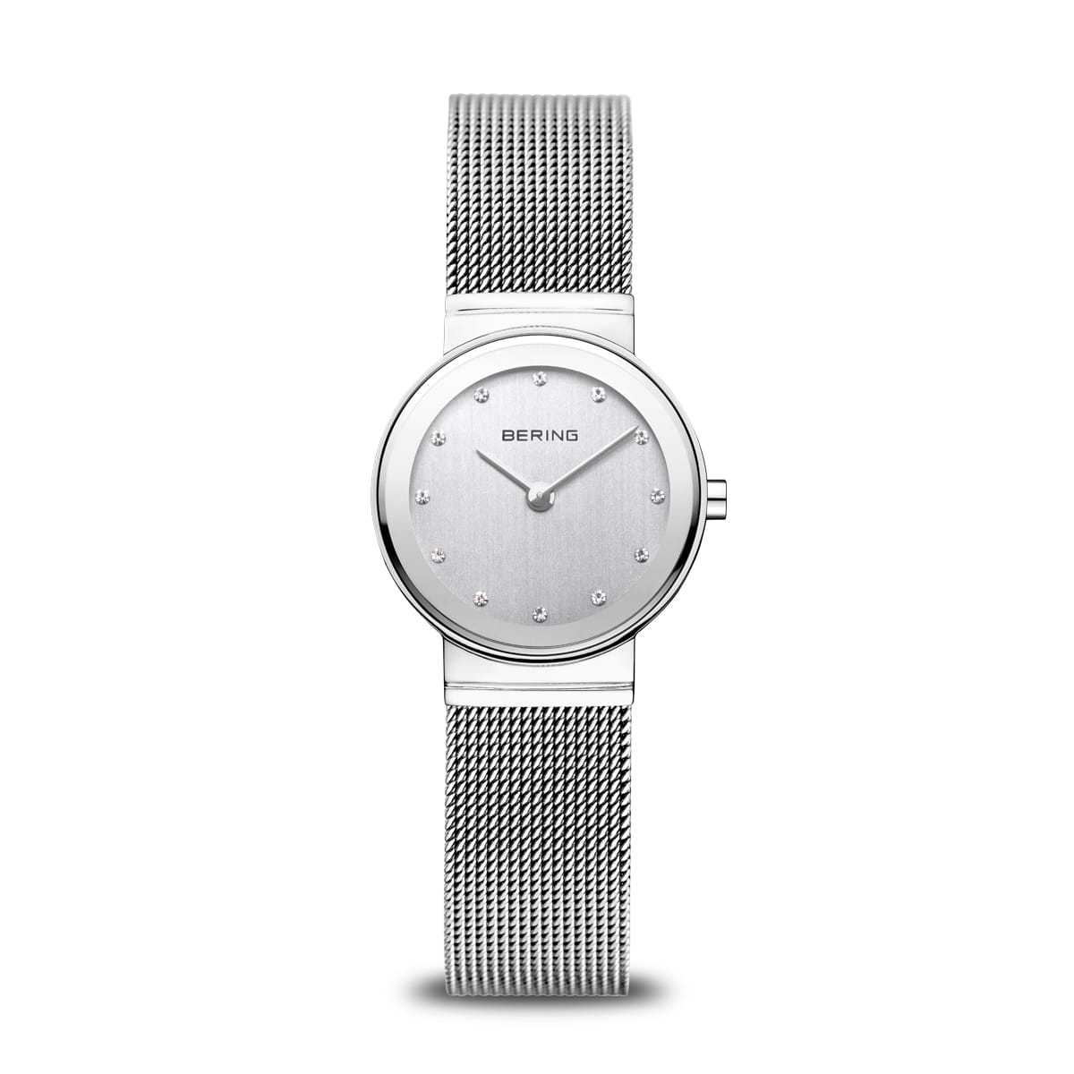 Bering Classic Polished Silver Small Mesh Watch