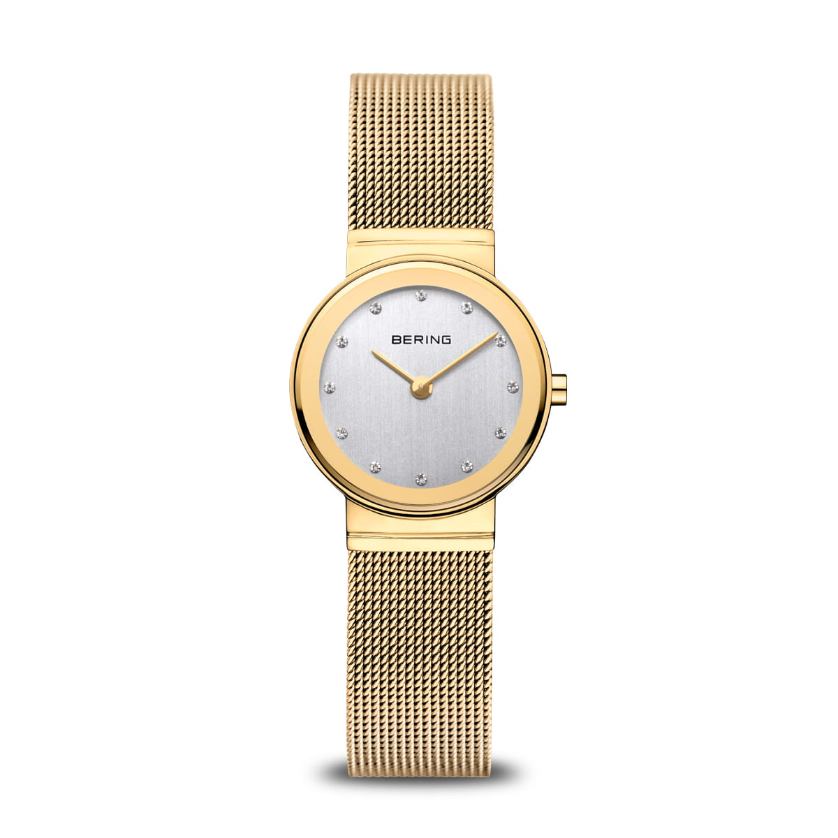 Bering Classic Polished Gold Small Mesh Watch