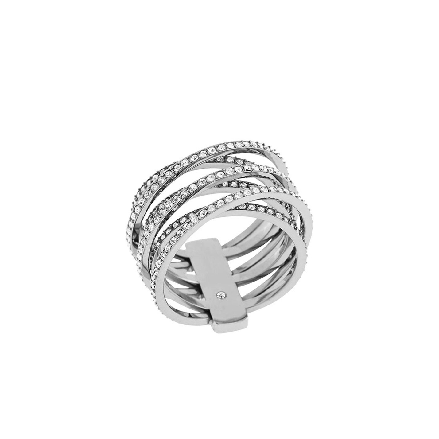 Michael Kors 'Brilliance' Pave Cross-Over Ring