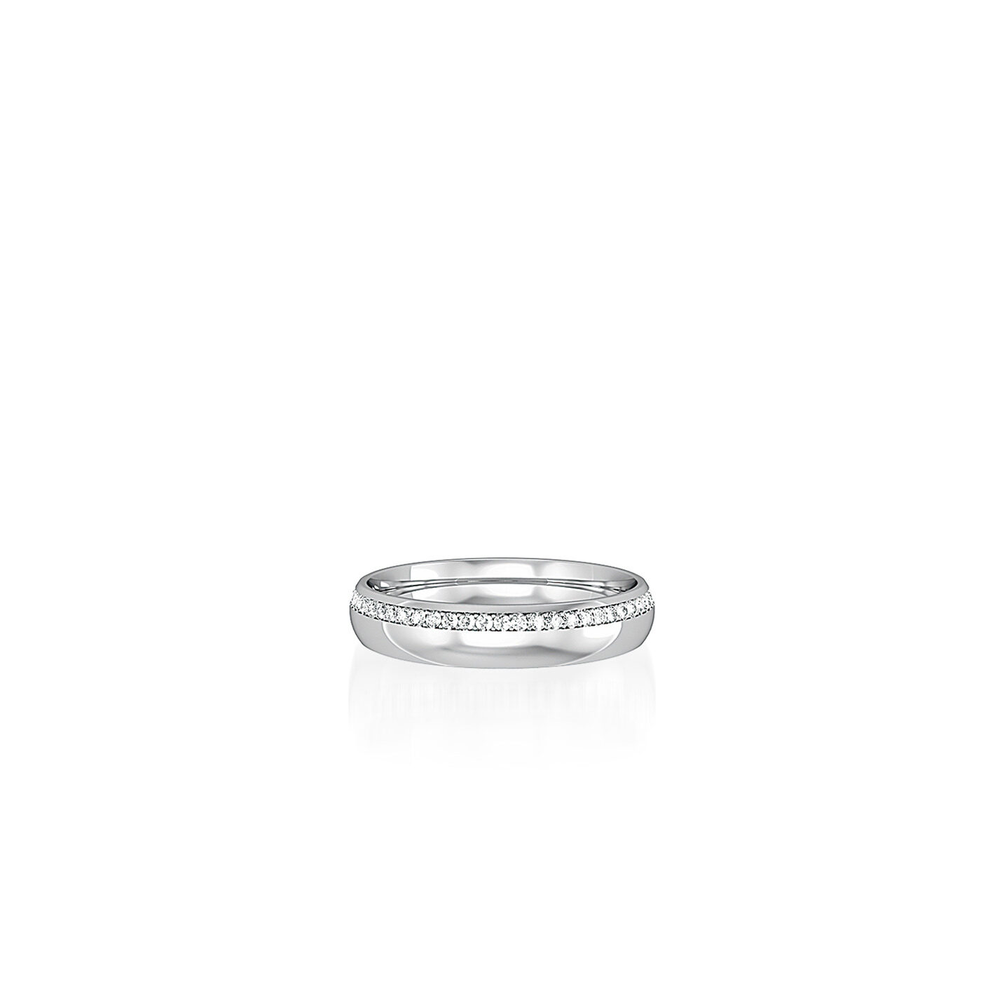 9ct. White Gold & Diamond Wedding Ring