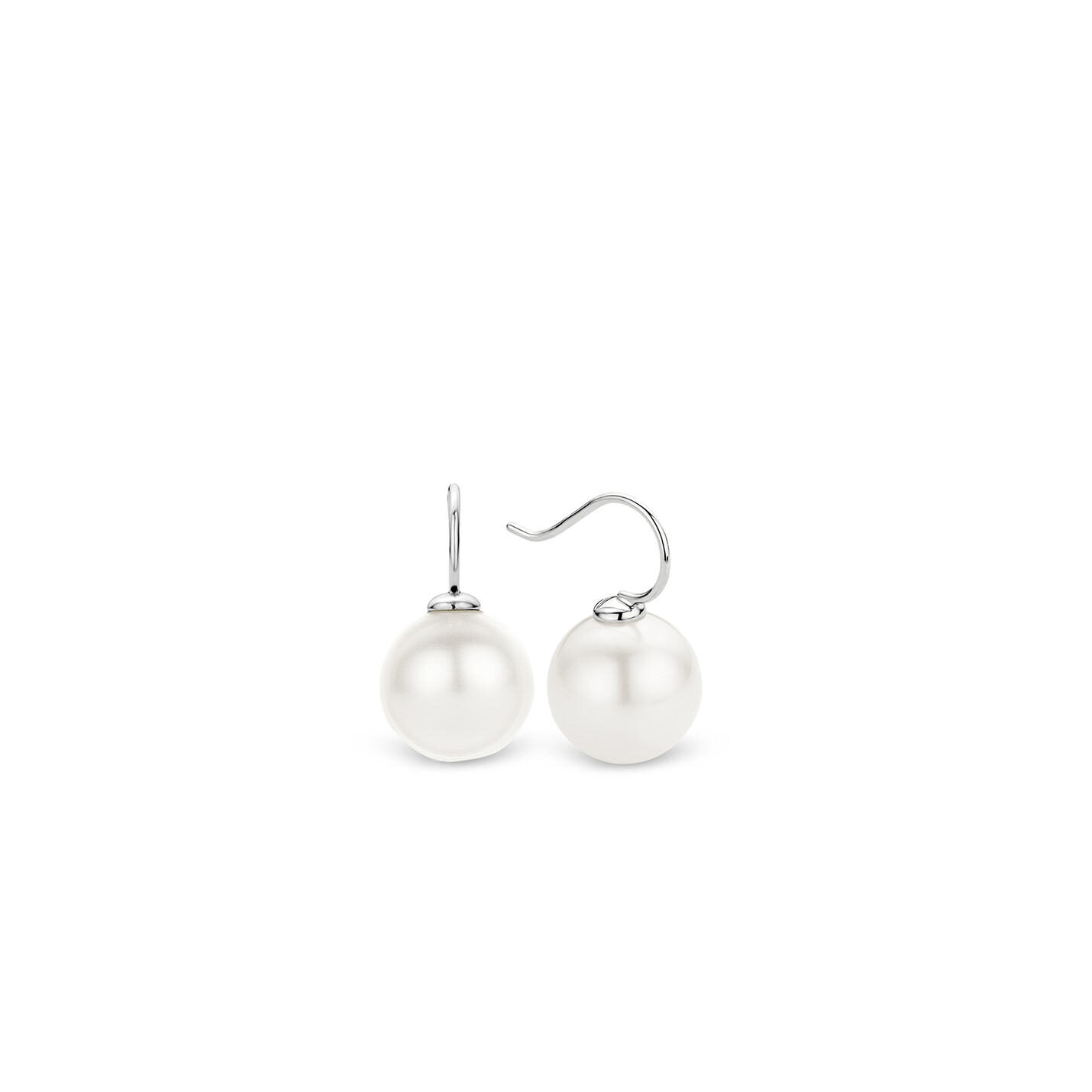 Ti Sento White Pearl Hook Earrings