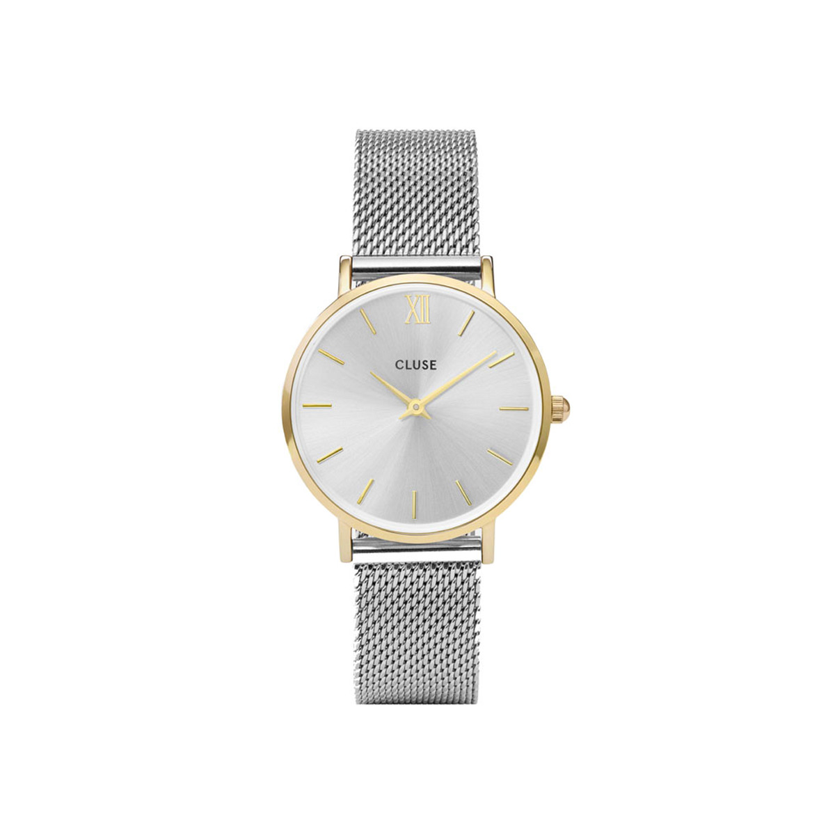 Cluse Munuit Watch - Yellow Gold & Silver