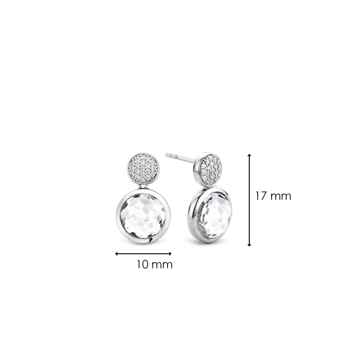 Ti Sento Evening Lights Silver Earrings