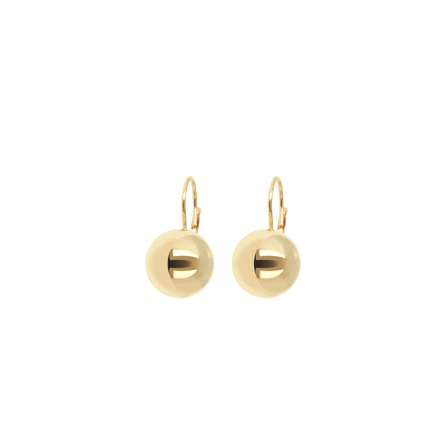 Bronzallure Yellow Gold Bead Earrings