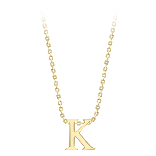 9ct. Yellow Gold Initial K Necklace