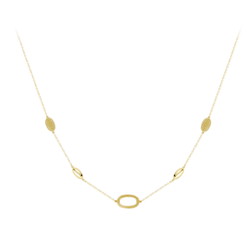 Gold Open Oval Necklace
