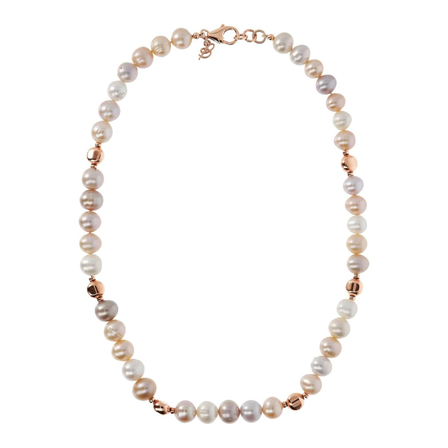 Bronzallure Multi-Color Pearl Necklace