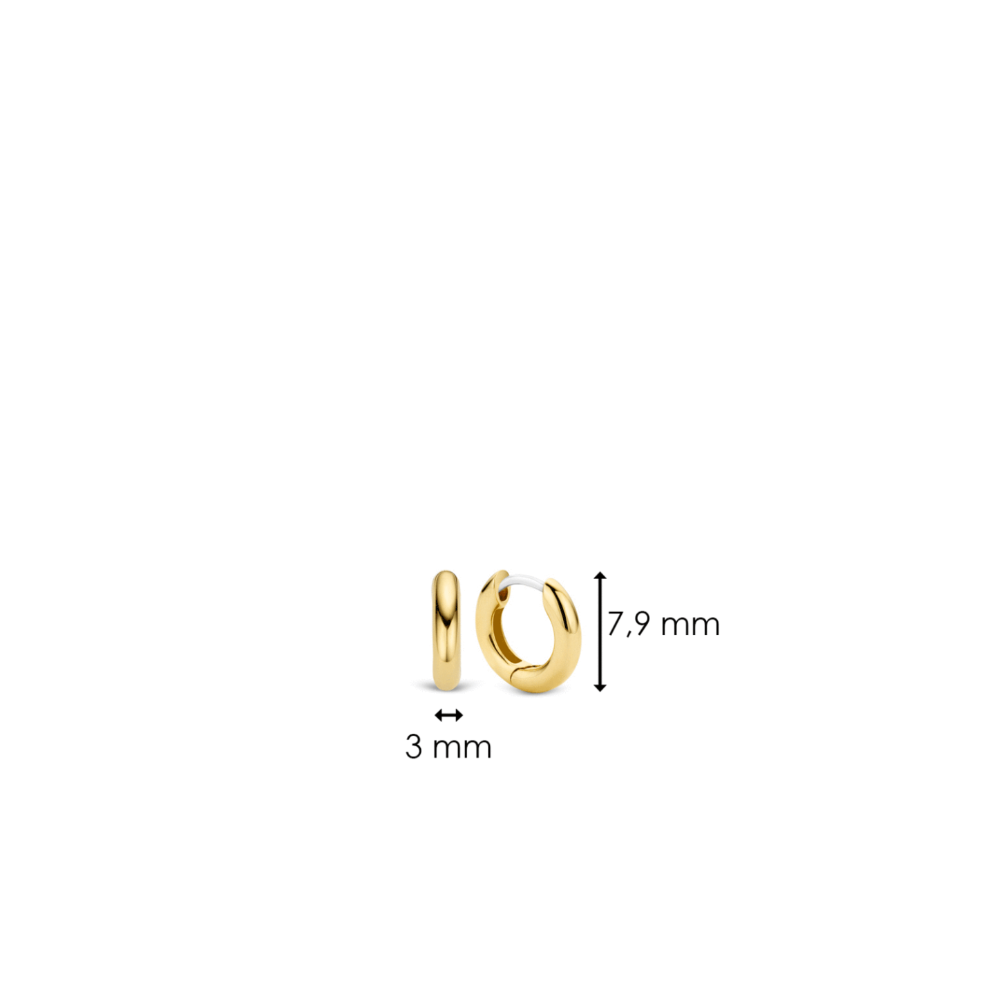 Ti Sento Small Yellow Gold Hoop Earrings