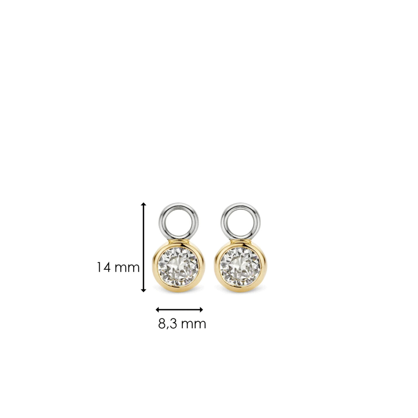 Ti Sento Ear Charms – Yellow Gold & CZ