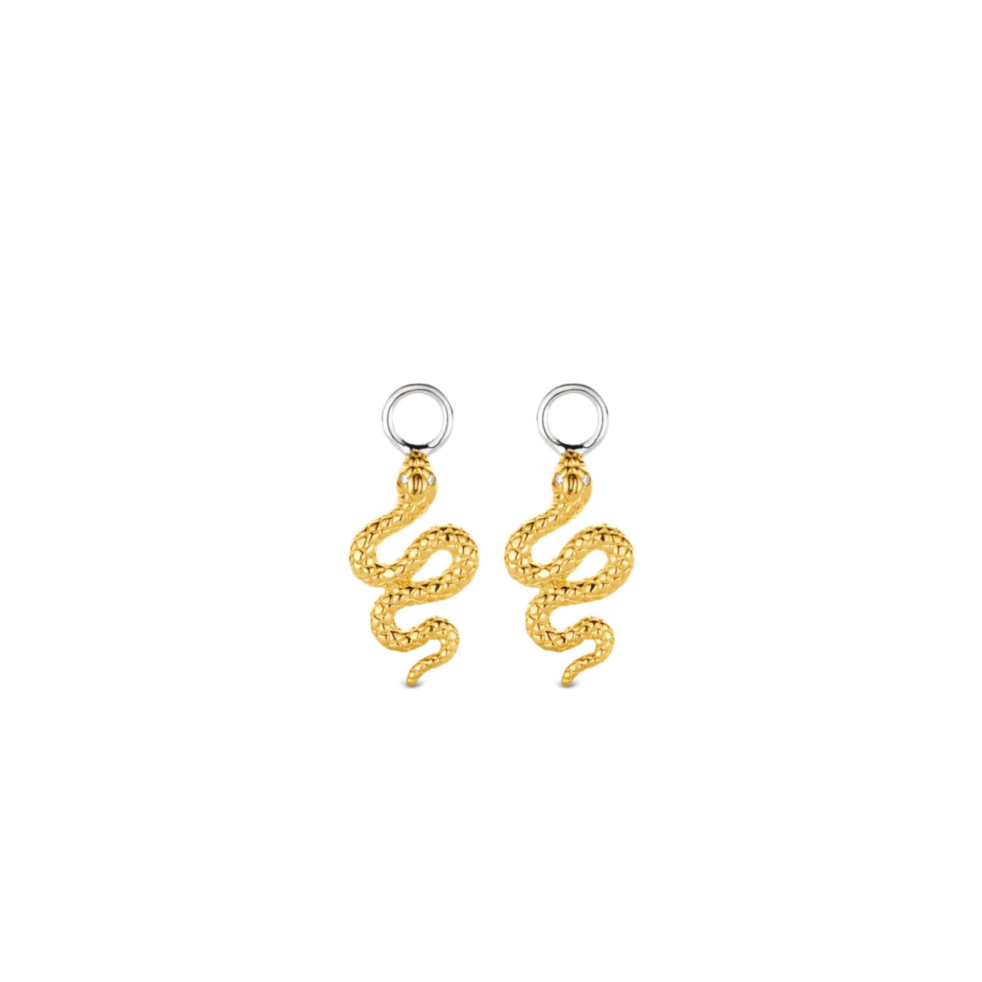 Ti Sento Ear Charms - Gold Snakes 9200SY