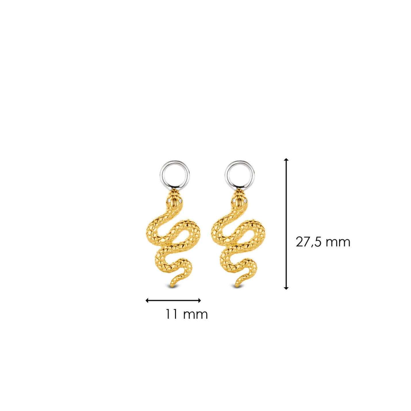 Ti Sento Ear Charms – Gold Snakes