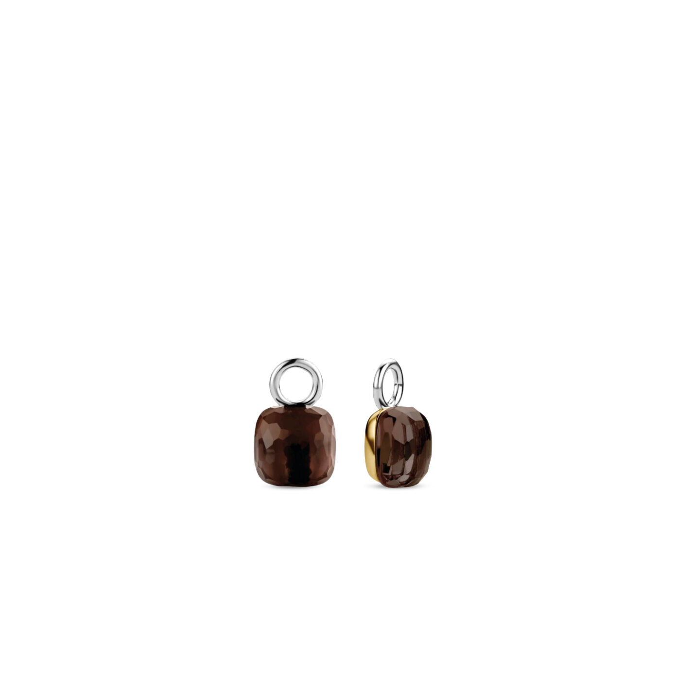 Ti Sento Tortoise Brown Charm Earrings