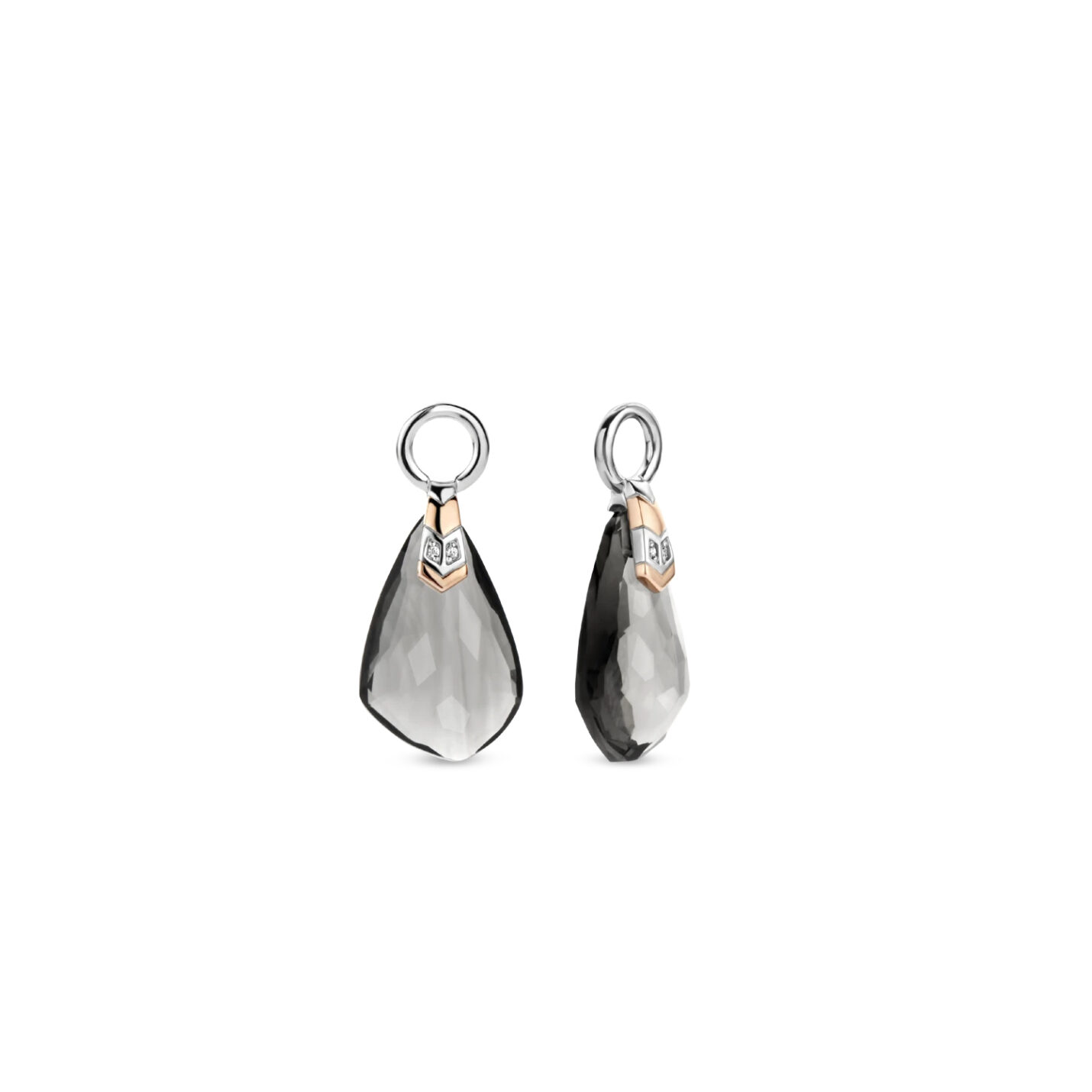 Ti Sento Grey Fantasy-Cut Earrings