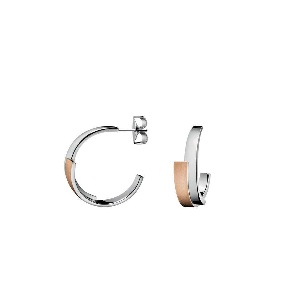 Calvin Klein Intense Half Hoop Earrings