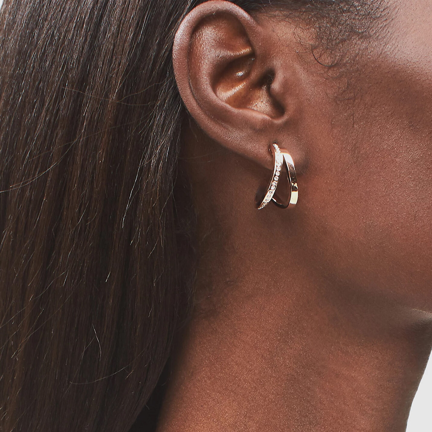 Calvin Klein Rose Gold Outline Hoop Earrings