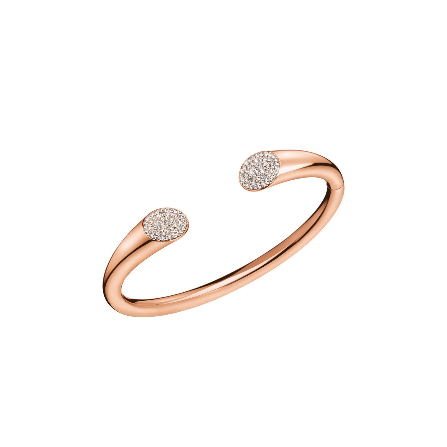 Calvin Klein Brilliant Rose Gold Open Bangle