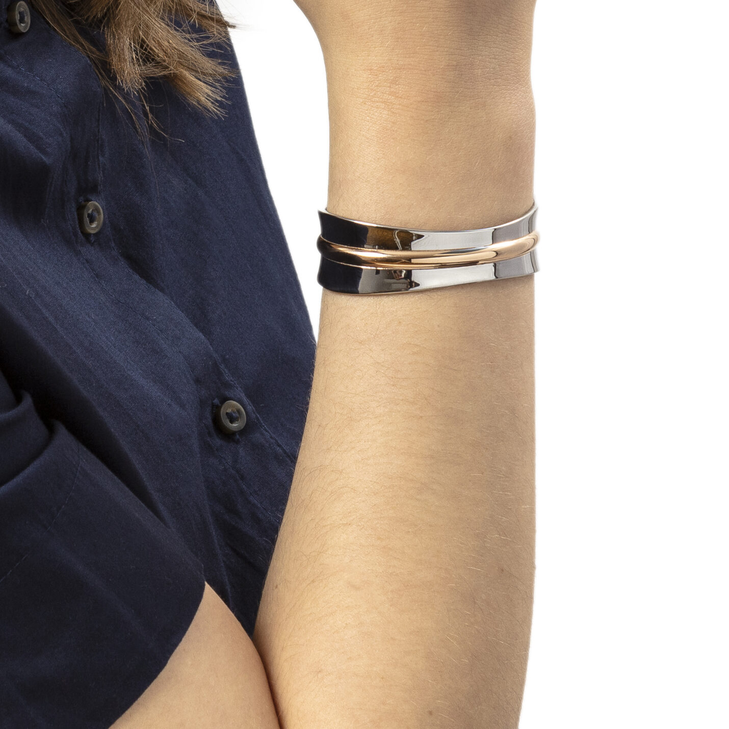Calvin Klein Two-Tone Slinky Open Bangle