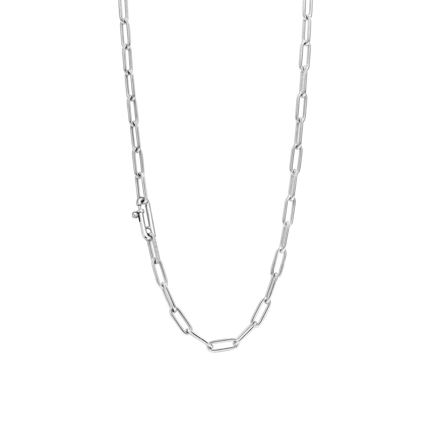 Ti Sento Silver Large Link Necklace